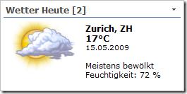 XML Wetter WebPart Variante 2