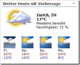 XML Wetter WebPart Variante 3